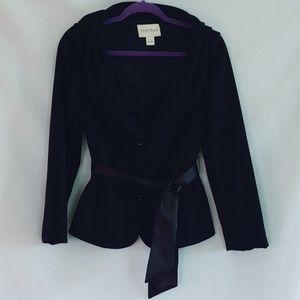 WHBM Women's Black Blazer Jacket With Sash